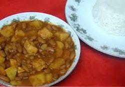 خوراک مرغ و لوبیا چیتی