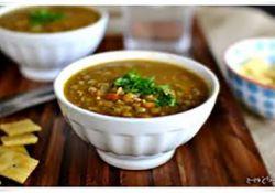 سوپ گوشت و عدس