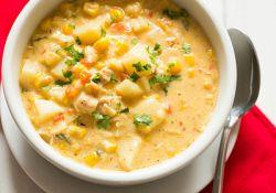 سوپ میگو ذرتی