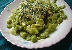 خوراک باقلا با سس