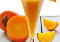 اسموتی خرمالو و پرتقال